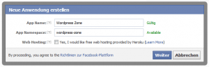Facebook App erstellen